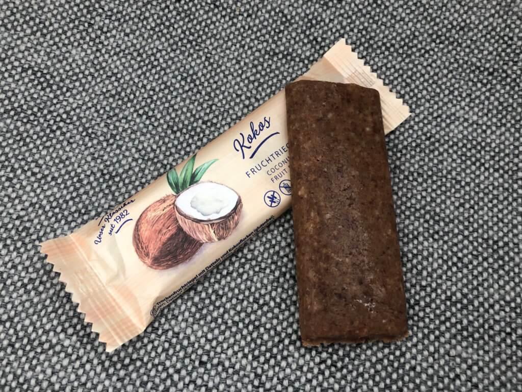 Lubs - Fruchtriegel Kokos ausgepackt