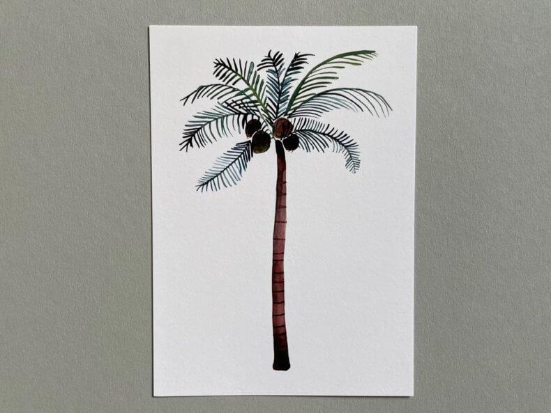 Postkarte-Palme-Vorderseite